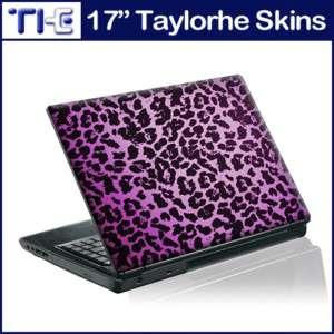 17 Laptop Skin Sticker Decal Purple Leopard Print 234