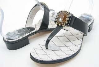 120 BOUTIQUE 9 OVAL Black Womens Shoes Sandals 7 M