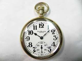 16S 17J POCKET WATCH 14KT GOLD FILLED HOWARD SWINGOUT CASE