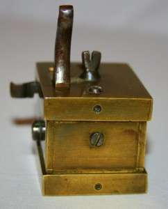 ANTIQUE BRASS MEDICAL SCARIFICATOR FLEAM BLOOD LETTING TOOL