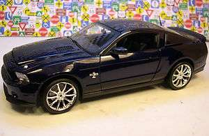 SHELBY COLLECTIBLES 118 DARK BLUE 2010 GT500 SUPER SNAKE 427 MUSTANG
