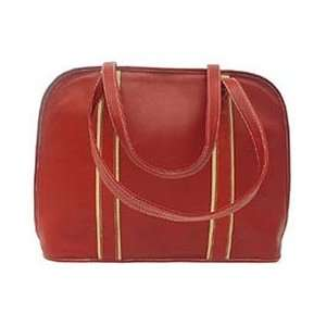 Piel Leather Womens Business Tote Red/sand Office