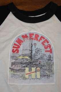 vtg 70s 1979 SUMMERFEST raglan jersey shirt * MILWAUKEE * concert