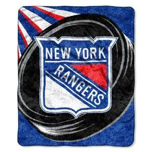 New York Rangers Super Soft Sherpa Blanket