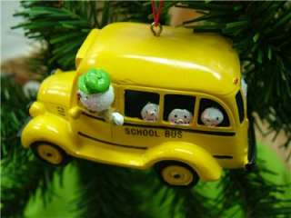 New School Bus Snowman Driver Snoman Christmas Ornament