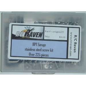 HPI Savage 25, SS, X Stainless Steel Screw Kit Toys
