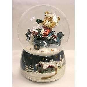 Teddy Bear Musical Jingle Bells Christmas Snow Globe