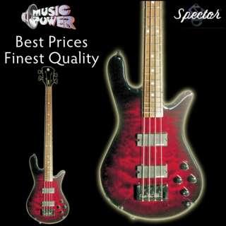 Classic Black Cherry 4 String Bass Guitar   Free Case At BIN