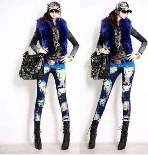 Marilyn Monroe pencil jeans women Korean tight stovepipe stretch jean