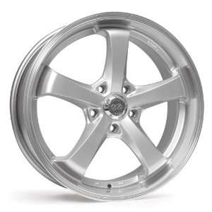 17x8 Enkei Falcon (Hyper Silver w/ Machined Lip) Wheels/Rims 5x114.3