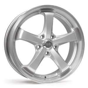 17x8 Enkei Falcon (Hyper Silver w/ Machined Lip) Wheels/Rims 5x114.3