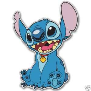 Lilo & Stitch cartoon STITCH car bumper sticker 4 x 5