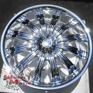 24 CHROME PHINO W38 5X115/120 DODGE CHARGER MAGNUM CHALLENGER 300 C