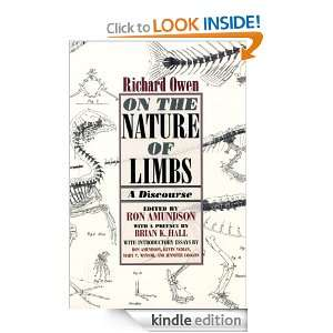 On the Nature of Limbs A Discourse Richard Owen, Brian K. Hall