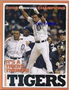 Baseball Tigers World Series 2006 Souvenir Program