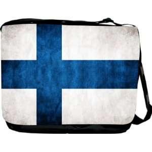 Rikki KnightTM Finland Flag Messenger Bag   Book Bag