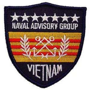 U.S. Navy Advisory Group Vietnam Patch Blue & White 3
