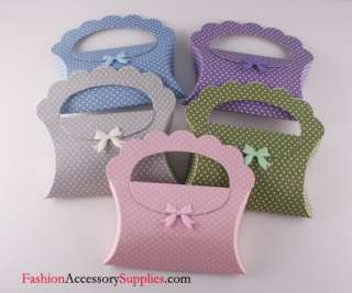 5pcs High Quality Paper Gift Boxes, Pillow Handle, Multi color printed