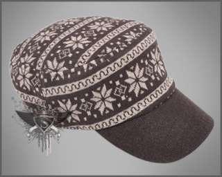 Apricot Snowflake Men Cadet Military Hat Ball Cap Cargo Striped New