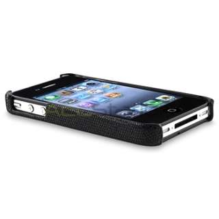 Black Sparkle Glitter Case Skin Cover+Privacy Film Accessory For