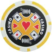 1000 11.5g Las Vegas Casino Style Poker Chips Chip Set