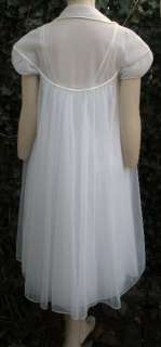 Vintage 50s GOTHAM White Swing Gown Robe Peignoir Set