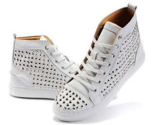 Fashion Mens Celebrity Spike Studded Shoes Mid top SneakersUS6.5 9.5