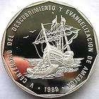 Dominican 1989 500th Anniversary Discover Peso 1oz Silver Coin,Proof