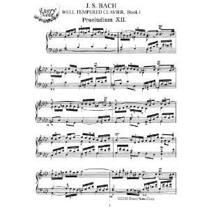 Bach, J.S. Book I: Prelude and Fugue No. 12: Instantly download and