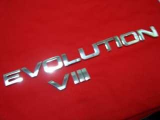 EVOLUTION VIII EVO 8 WORD EMBLEM DECALS BADGE LOGO