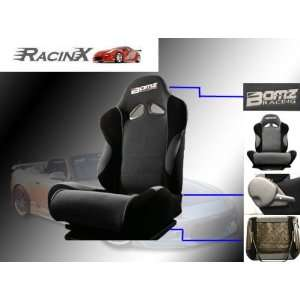 Gray with Black Universal Racing Seats   Pair Automotive