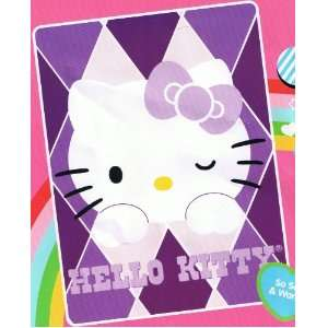 Sanrio Hello Kitty Blanket Twin Size 60 X 80 Mink Raschel Plush