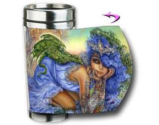 Dragon Charmer Josephine Wall Fantasy Art Travel Mug
