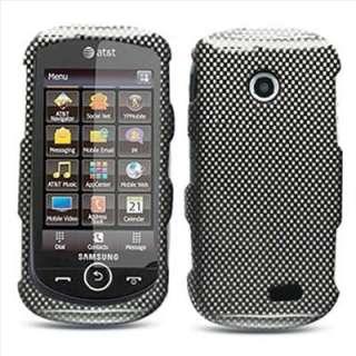 Samsung A817 Solstice 2 II Carbon Fiber Image Hard Case Cover +Screen