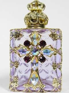 Czech Christian Cross Perfume/Oil/Holy Water Holder