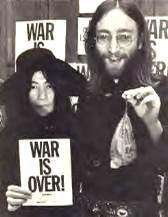 Beatles John Lennon Yoko Ono WAR IS OVER Old Postcard