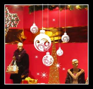 Extra Large Christmas Ball Show Window Shopwindow Wall Art Decoration
