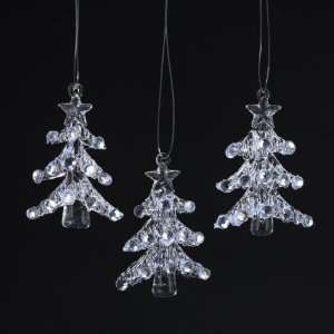 of 36 Clear Spun Glass Christmas Tree Ornaments 2.17