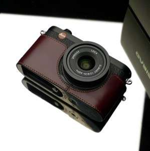 Gariz XS CHX1MB Camera Half Leather Case LEICA X1 X 1 Metal Brown