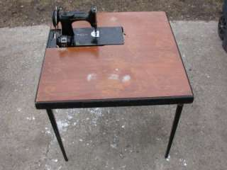 FEATHERWEIGHT 221 1 SEWING MACHINE with ORIGINAL TABLE & INST MANUAL