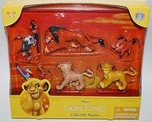 Disney Parks Lion King Simba Nala 7 pc Cake Topper Figure Figurine