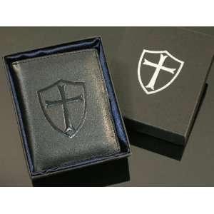 Knights Templar Shield Cross Bifold Wallet BRAND NEW High