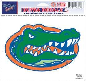Gators 5x6 NCAA Color Ultra Cling Decal Logo Static Sticker Car