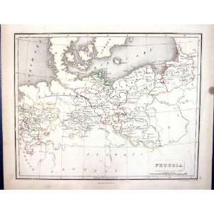 Prussia Hanover Pomerania Silesia Chambers Gellatly Antique Map 1855