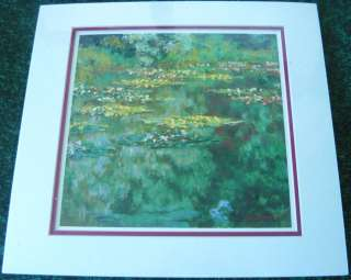 Claude Monet Oil Painting Print Dbl Matted WATER LILIES