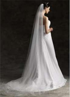 Pretty Single Layer 300cm Cathedral In White Wedding Bridal Veil With
