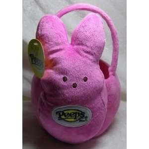 Peeps Plush Bunny Basket Pink