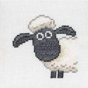 Shaun the Sheep on Binca   Cross Stitch Kit Arts, Crafts
