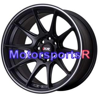 25 XXR 527 Black White Stripe Rims Concave Wheels Stance 4x100 BMW E30