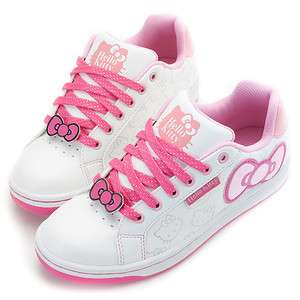 Hello Kitty Ladys Comfy Casual Sneakers Shoes White Pink 910671#H11